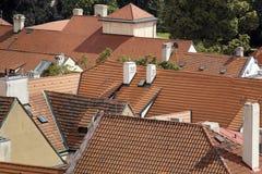 красные крыши Стоковое фото RF