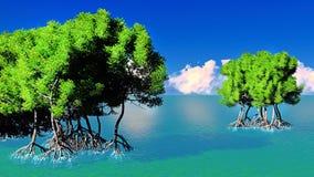 Красные мангровы иллюстрация штока