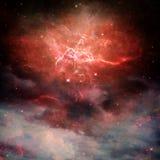 Красные межзвёздные облака бесплатная иллюстрация