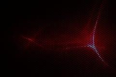Красные металлические сетка и свет Стоковые Изображения
