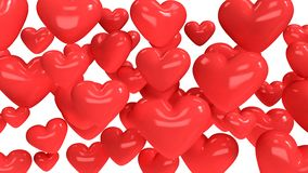 Красные много предпосылка 3d сердца абстрактная представить иллюстрация штока