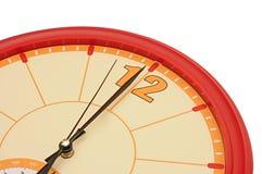 Красные настенные часы Стоковые Изображения
