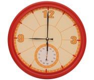 Красные настенные часы Стоковое Фото