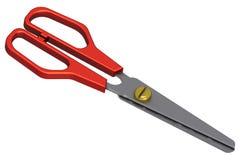 красные ножницы Стоковые Фотографии RF