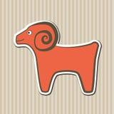 красные овцы Стоковое Изображение RF