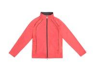 Красные оранжевые розовые women's тренируя куртку спорт; изолированный на wh Стоковая Фотография