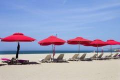 Красные парасоли Стоковое Изображение RF