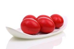 Красные пасхальные яйца Стоковые Изображения RF