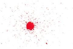 Красные падения на белизне Стоковые Изображения RF