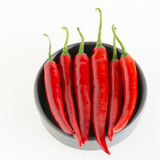 Красные перцы в сером шаре Стоковая Фотография