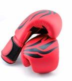 Красные перчатки бокса на белой предпосылке Стоковые Фотографии RF