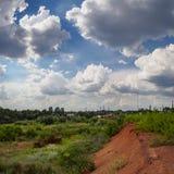 Красные пески под небом Стоковое Изображение RF