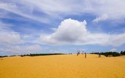Красные песчанные дюны в Ne Mui, Вьетнам Стоковые Фото