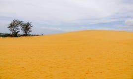 Красные песчанные дюны в Ne Mui, Вьетнам Стоковая Фотография