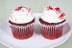 Красные пирожня бархата Стоковое Изображение RF