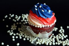 Красные пирожня бархата Стоковое Фото