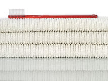 красные полотенца зубной щетки Стоковое Изображение