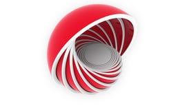 Красные полусферы или шары приспосабливать один другого дизайн 3D, различный размер или пластмассы связали loopable предпосылка д бесплатная иллюстрация