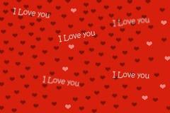 Красные предпосылка и сердце Стоковая Фотография RF