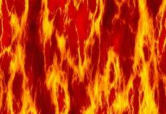 Красные предпосылки текстуры огня пламени Стоковая Фотография