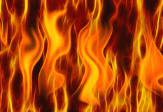 Красные предпосылки текстуры огня пламени Стоковое Фото