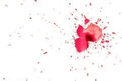 Красные пятна чернил Стоковое Фото