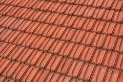 красные плитки крыши Стоковые Фото