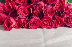 Красные розы предпосылки Стоковая Фотография RF
