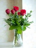 красные романтичные розы Стоковые Изображения