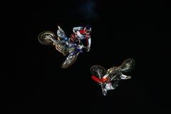 Красные X-Самолет-истребители Bull Стоковые Фото