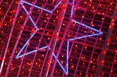 Красные света рождества стоковая фотография rf