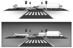 Красные светофоры Стоковая Фотография RF