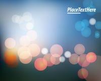 Красные светы на голубой предпосылке Стоковые Фотографии RF