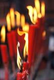 Красные свечи Стоковая Фотография