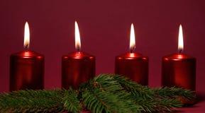 Красные свечи Стоковое Изображение RF