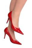 красные сексуальные ботинки Стоковые Фото