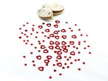Красные сердца на белой предпосылке стоковое фото