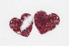 Красные сердца Стоковые Фотографии RF