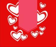Красные сердца с ярлыком бесплатная иллюстрация