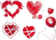 Красные сердца Стоковое Изображение RF