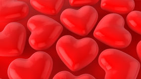 Красные сердца иллюстрация штока