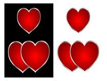 Красные сердца Стоковое фото RF
