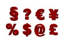 красные символы Стоковая Фотография RF