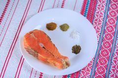 Красные солёные рыбы стоковое изображение
