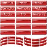 Красные стеклянные кнопки бесплатная иллюстрация