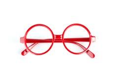 Красные стекла моды стоковые изображения rf