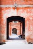 Красные стены Стоковые Изображения
