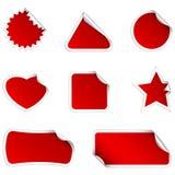 красные стикеры бесплатная иллюстрация