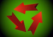 Красные стрелки. Вектор Стоковые Изображения RF