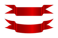 Красные стрелки лент стоковое фото
